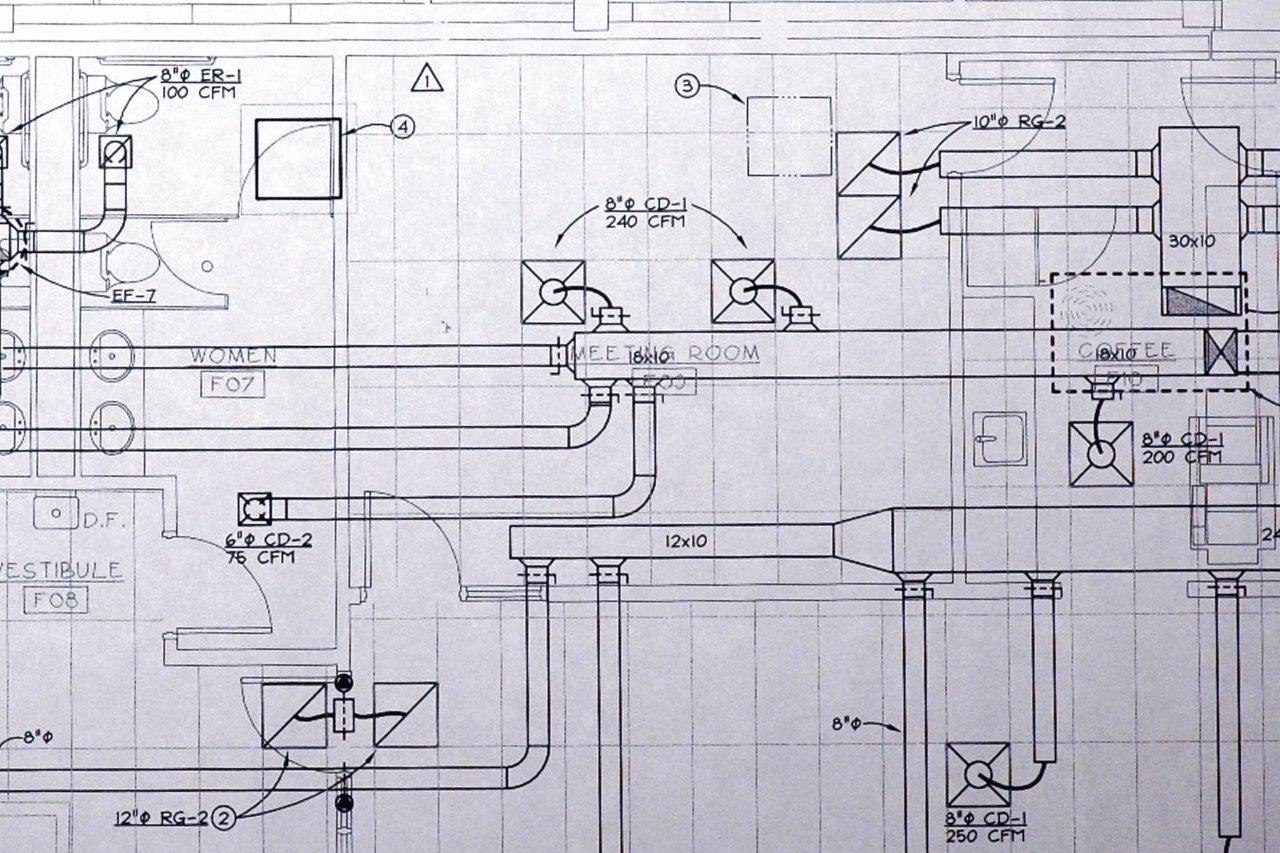 Commercial Hvac Installation Cmi Mechanical Drawing Key Construction Design