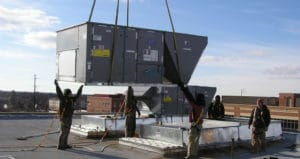 Commercial HVAC Rooftop Installation
