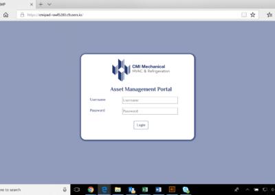 Login Screen - Facility Manager Portal