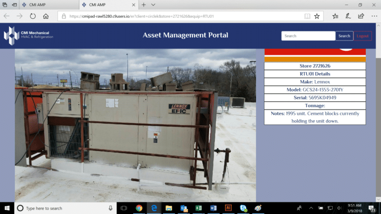 RTU Info - Facility Manager Portal